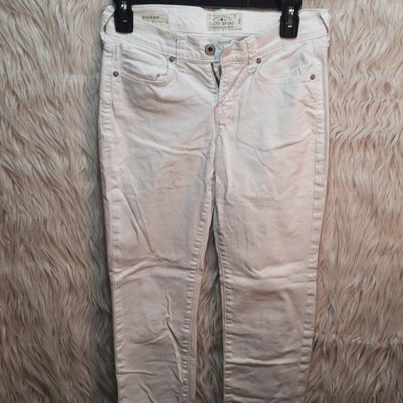Lucky Brand Denim - Lucky Brand Jeans White Distressed 26